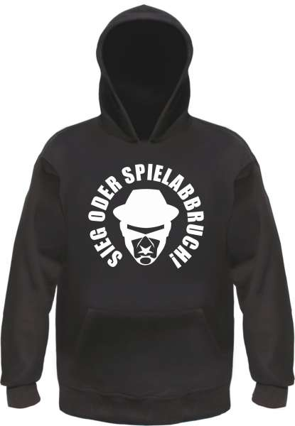 Sieg oder Spielabbruch Sweatshirt - LOGO - Schwarz