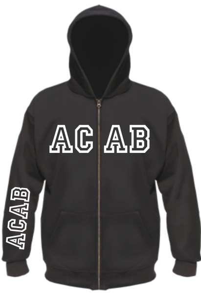 ACAB Kapuzenjacke - College - Schwarz