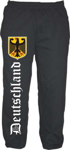 Deutschland Jogginghose - Altdeutsch Mit Wappen - Schwarz