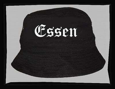 ESSEN Fischer-Hut +++ schwarz/weiss