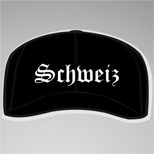 Schweiz Cap / Schirmmütze +++ schwarz/weiss