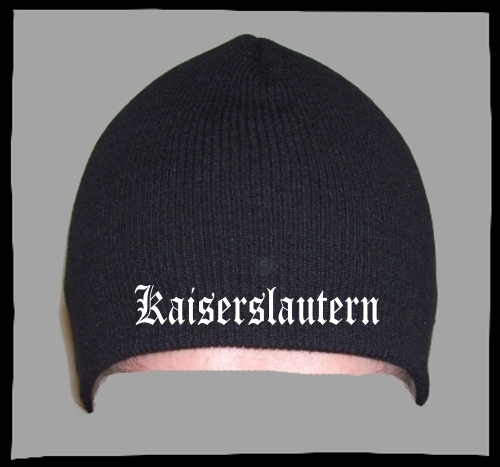 KAISERSLAUTERN Beanie / Strickmütze + schwarz + bestickt