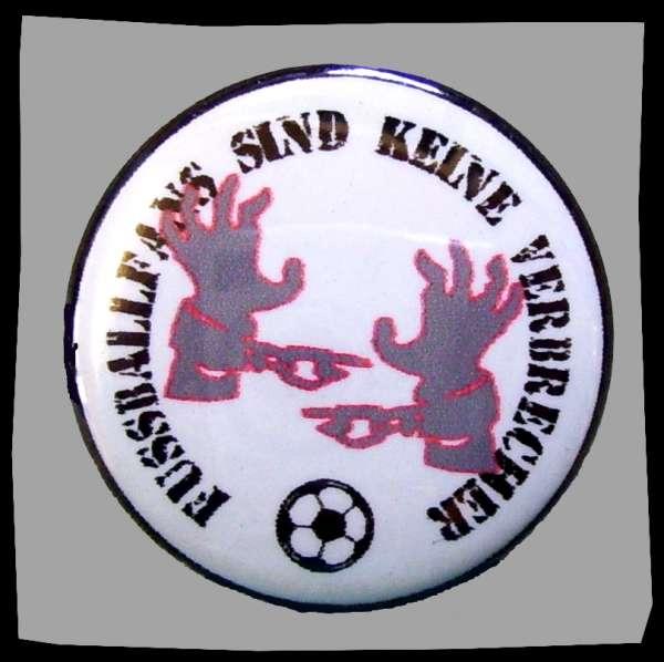 Fussballfans sind keine Verbrecher Button