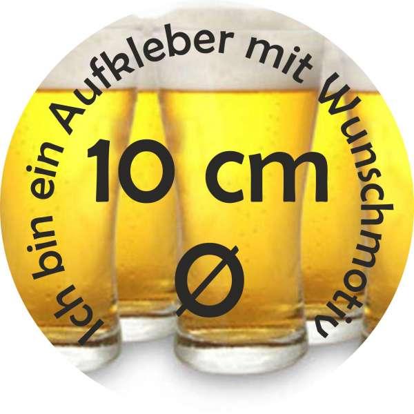 100 Aufkleber / Sticker Rund 10cm mit eigenem Motiv