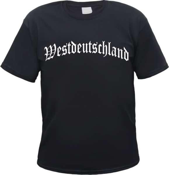 Westdeutschland T-Shirt - Altdeutsch - Schwarz