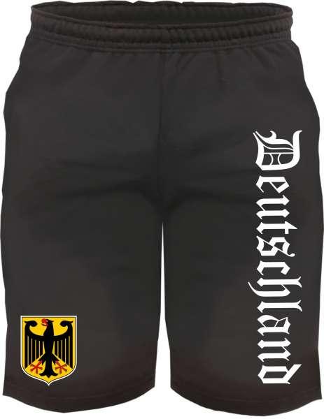 Sweatshorts - Deutschland mit Wappen - Kurze Hose