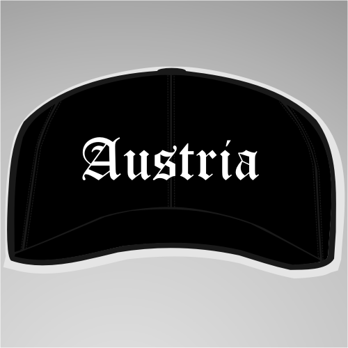Austria Cap / Schirmmütze +++ schwarz/weiss