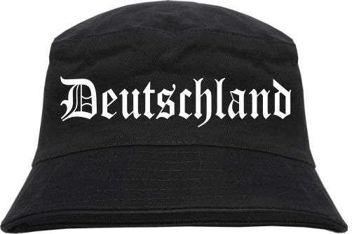 Deutschland Fischerhut - Altdeutsch - Schwarz