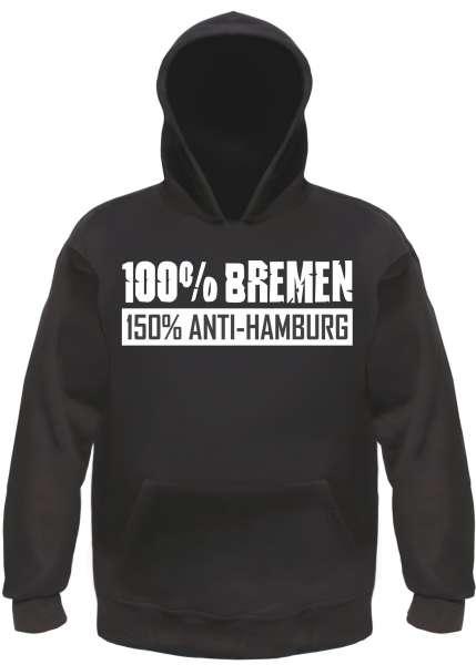 BREMEN Sweatshirt Anti-Hamburg +++ schwarz/weiss