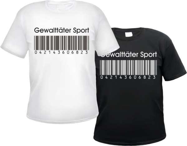 T-Shirt Gewalttäter Sport - Barcode Motiv