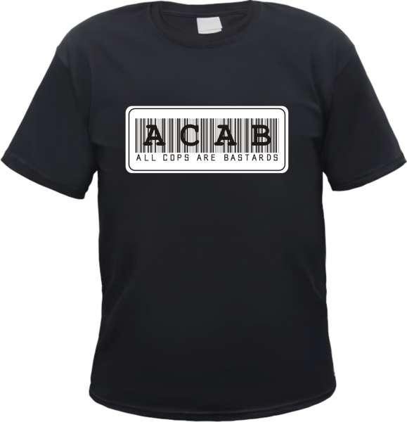 ACAB T-Shirt - Barcode - Schwarz