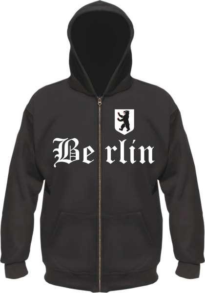 BERLIN Kapuzen-Jacke + Altdeutsch mit Wappen + schwarz