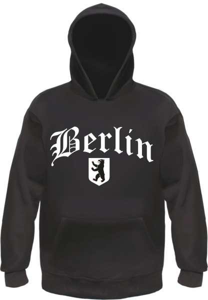 BERLIN Sweatshirt + Altdeutsch mit Wappen + Schwarz