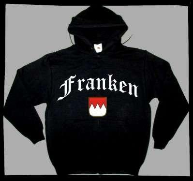 FRANKEN Sweatshirt + schwarz mit Wappen
