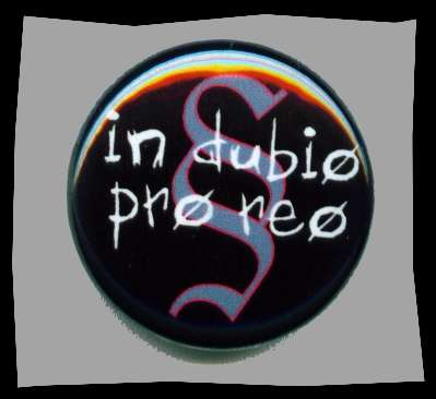 in dubio pro reo Button +++ schwarz
