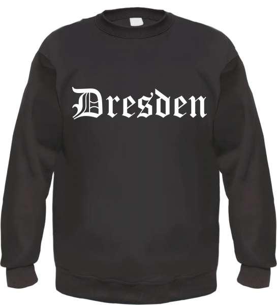DRESDEN Sweatshirt + Altdeutsch + schwarz