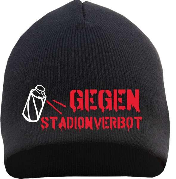 Gegen Stadionverbot Beanie Mütze - Sprühdose - Schwarz