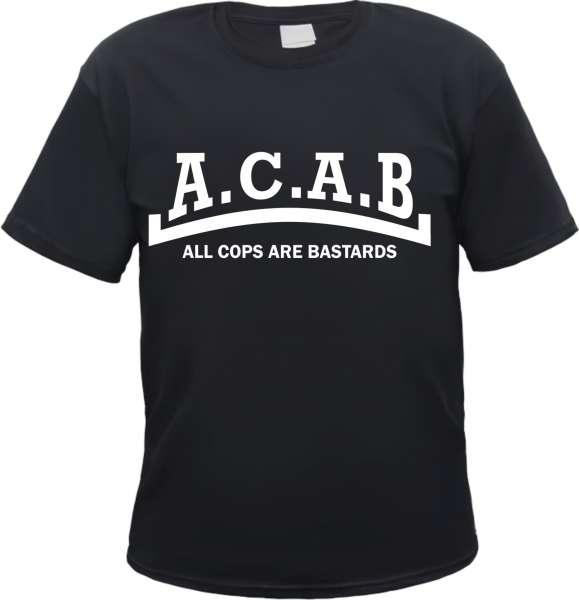 ACAB T-Shirt - Linie - Schwarz - Druckfarbe wählbar