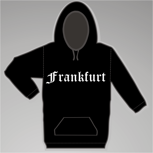 FRANKFURT Sweatshirt + Altdeutsch + schwarz