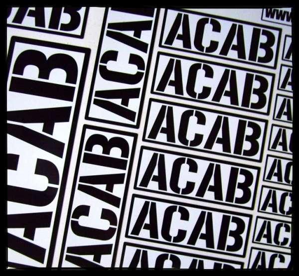ACAB Aufkleber + 20 Stück im Set