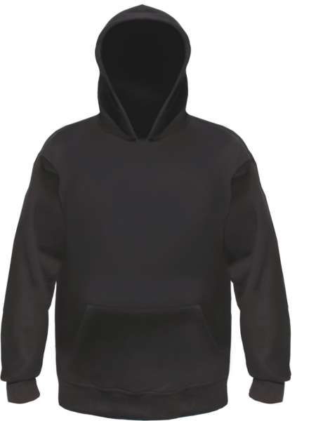 Kapuzensweatshirt - Blanko - Schwarz - S bis 3XL