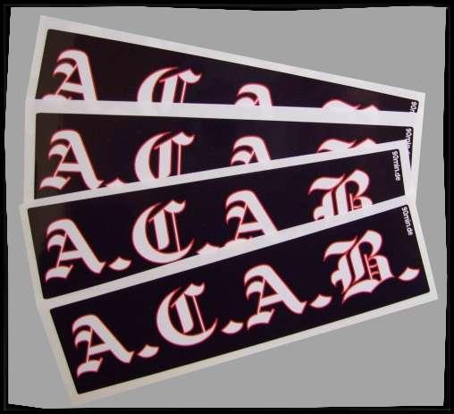 A.C.A.B. Altdeutsch Aufkleber / Sticker