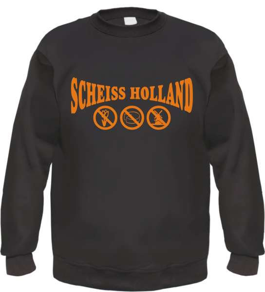 Scheiss Holland Sweatshirt +++ schwarz/orange