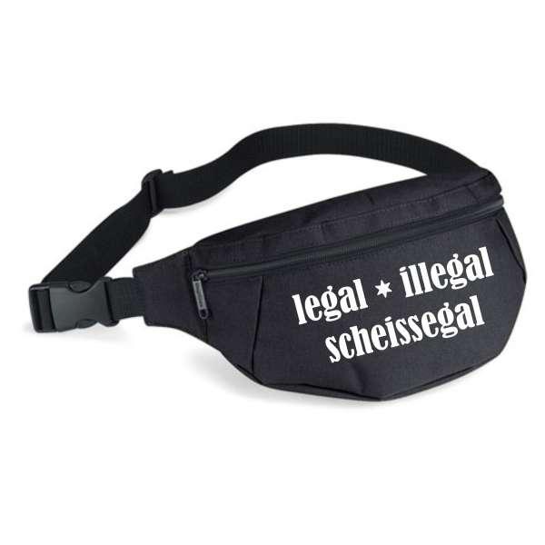 Bauchtasche - legal illegal scheissegal - Gürteltasche