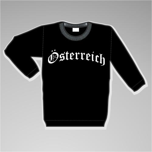 Österreich Sweatshirt mit Wappen +++ schwarz