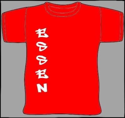 ESSEN T-Shirt seitlicher Druck +++ rot/weiss