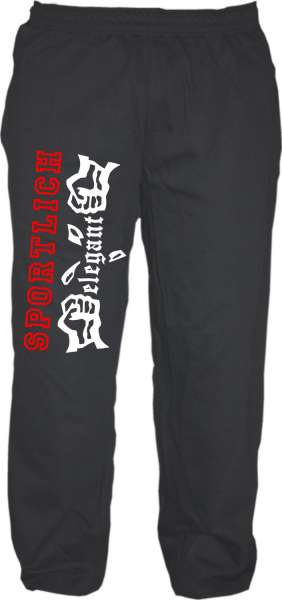 Jogginghose - Sportlich Elegant - Schwarz Weiss Rot