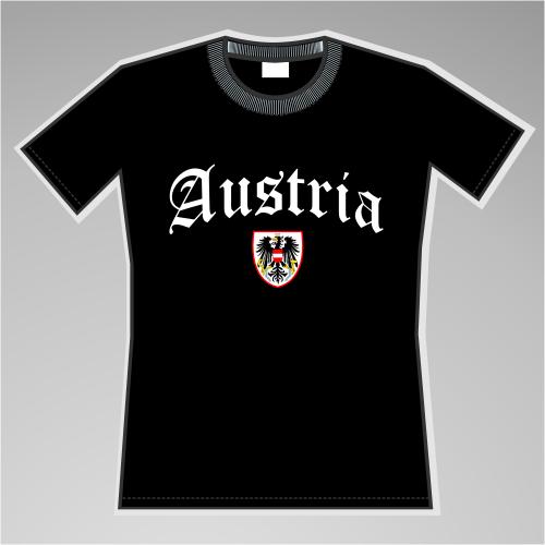 Austria Mädels-Shirt mit Wappen +++ schwarz