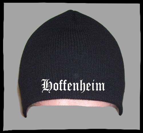 HOFFENHEIM Beanie / Strickmütze + schwarz + bestickt