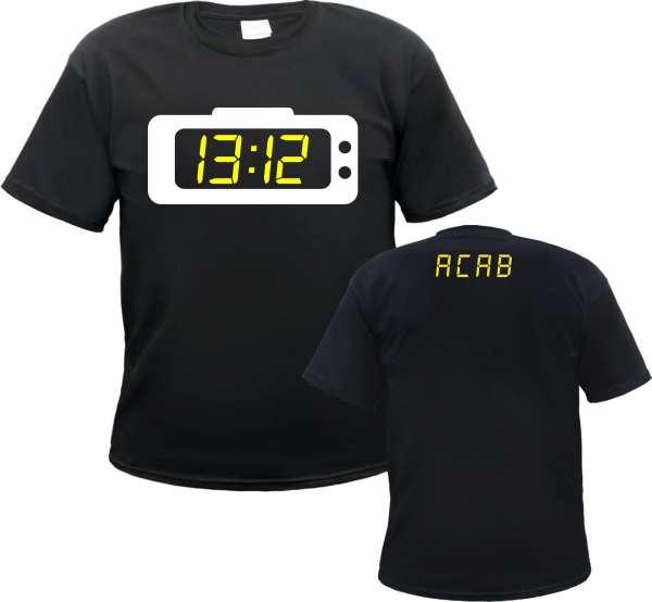 1312 T-Shirt - Wecker - Schwarz Weiss Gelb