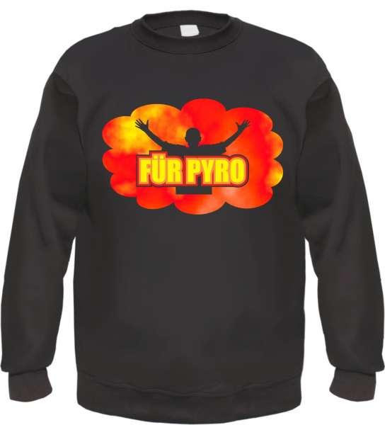 FÜR PYRO Sweatshirt + schwarz/mehrfarbiger Druck
